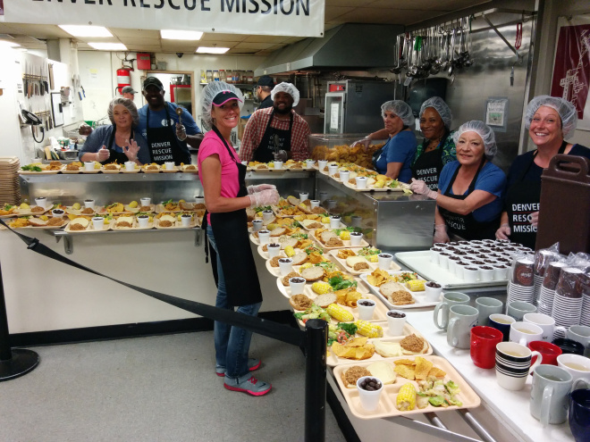 Denver Rescue Mission Meal Prep